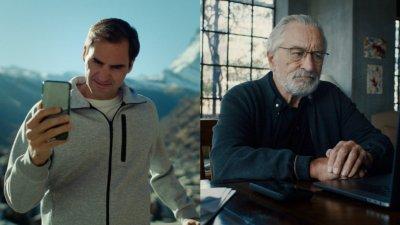Рекламата в която Робърт Де Ниро отказва на Роджер Федерер да участва в реклама на Швейцария