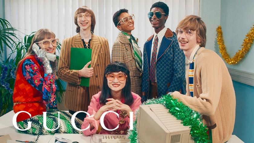Коледната кампания на Gucci – най-после парти