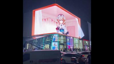 3D билборд събира тълпи в Китай